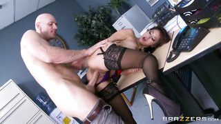 slutty milf gets horny at work