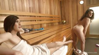 steam and sucking cock in the sauna