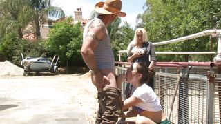 bitch gets pounded outdoor @ mommy likes to watch