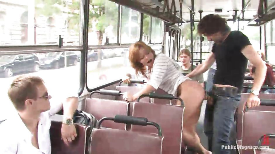 sex bus disgrace Public on