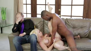 big ass blonde latina sucks a black cock @ mom's cuckold #18