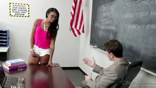 cheeky student seduces her professor