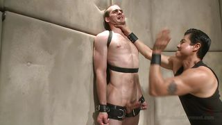 gay bitch slapped and ready for cock