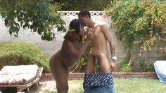 pregnant chocolate whore gives a hot head