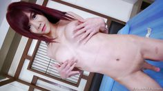 sweet asian tranny spreads her asshole