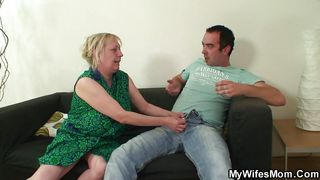 wifes mom solves any problems with a hard cock