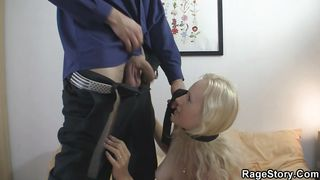 cute blonde roughly fucked by her bf