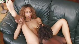 curly ebony slut playing dirty