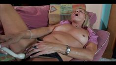 granny pounds her pussy hard