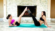 lesbians enjoy some yoga