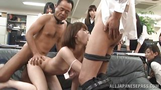 naughty asian has sex in public
