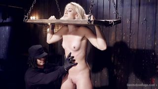 helpless blonde got restrained