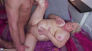 old dutch slut gets pounded hard