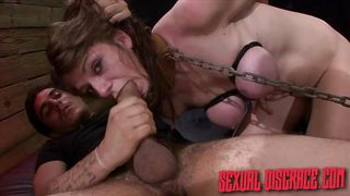chained up slave gets fucked hard