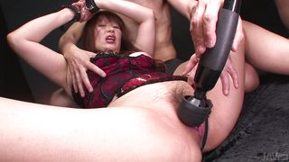 multiple men dominate her with vibrators