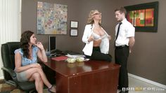 office milfs having fun with a massive cock