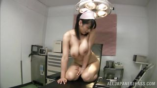 japanese nurse has huge natural tits