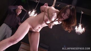 asian milf bonded, whipped and awfully used