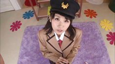 disciplined nippon brunette kneels for me