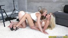 blonde-haired lesbians playing dirty