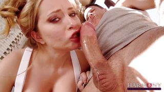 aiden starr dressed up gives a blowing masterclass