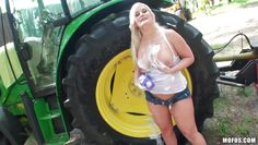 wash the tractor and that ass