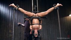 milf india is locked in an insane bondage device