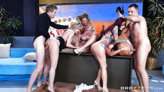 tv live show ended with orgy