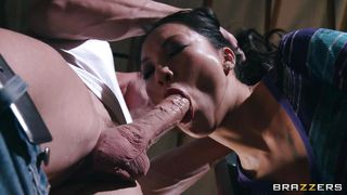asian porn start fills her mouth with cock