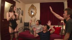 ayumi in gangbang with step-son and his friends