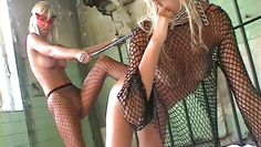 blondes have kinky sex in asylum