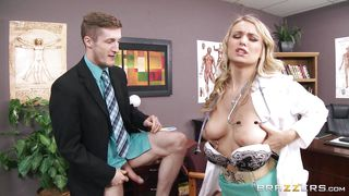 blonde doc needs a hard cock as treatment