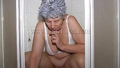 hot granny having a piss