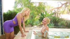 blonde lesbians in the bathtub