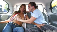 suzan sucks a cock on the backseat