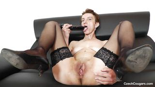 mature czech spread her legs wide