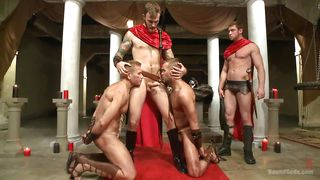 roman centurion fucks two gay sex slaves