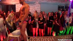 male stripper puts on a show for a room of sexy ladies