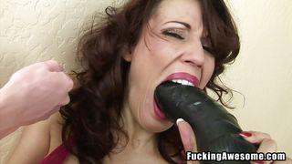 big enough for her mouth and pussy