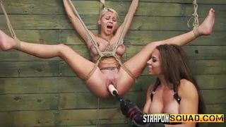 hot marsha enjoys strap on