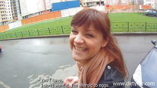 public fun with horny redhead