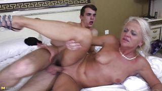 blonde mature fucked in her bedroom