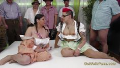 hot chicks in wild lederhosen gangbang