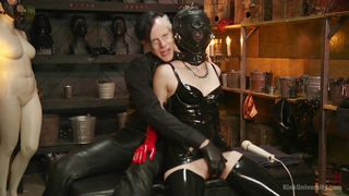 gas mask, breath play and extreme stimulation