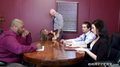 blonde nicole is fucked in the boardroom