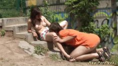 amateur couple fucking on public place