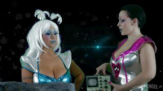 space sluts get freaky in outerspace