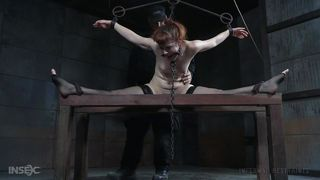 slave was tied up and master used her body