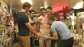 humiliated and fucked by gays in a public store