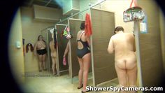 women caught on a spy camera in a shower